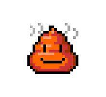 Pixel Smiley Poop Photographic Print