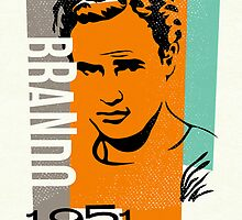 Original Graphic Design Portrait of Marlon Brando by DKMurphy