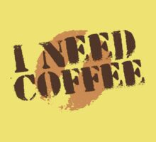 I NEED COFFEE with coffee bean hipster by jazzydevil