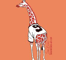 Belt Giraffe (Orange/iPhone 5) by swiener