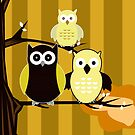 Yellow Owls by Adamzworld