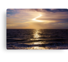 Evening Over The Water Canvas Print