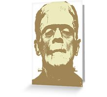 Frankenstein brown Greeting Card