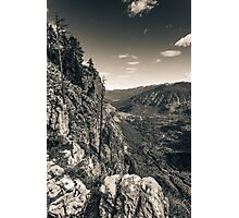 The lost valley - Sepia Photographic Print