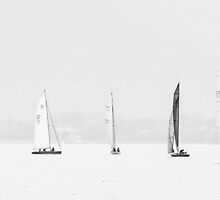 Yachts on Lake Geneva by Alan Robert Cooke