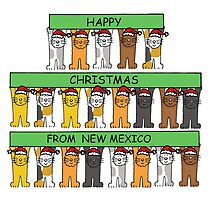 Cats in Santa hats Happy Christmas from New Mexico. by KateTaylor