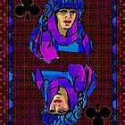 Pixel Queen of Clubs by RonMock