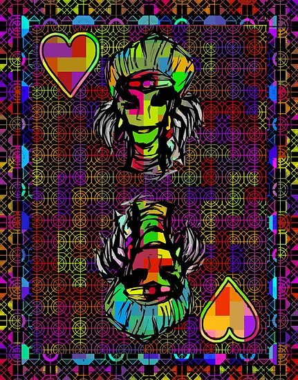Pixel Queen of Hearts by RonMock
