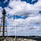 Marblehead Light on Marblehead Neck by Rebecca Dru