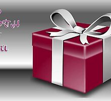 A Red Wrapped Gift Box To Both Of You  by taiche