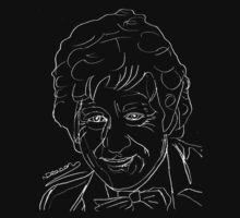 Jon Pertwee - 3rd Doctor (white) by natashadeacon