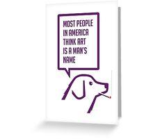 Smoking dog quotes Warhol again Greeting Card