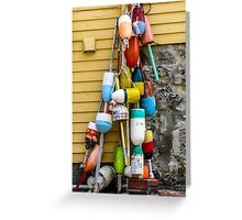 BUOYS in MARBLEHEAD Greeting Card