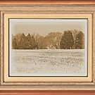 Wide Country Christmas ... with a matted and framed look by © Bob Hall