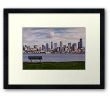 Bench with a View Framed Print