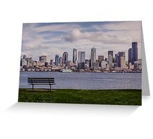 Bench with a View Greeting Card