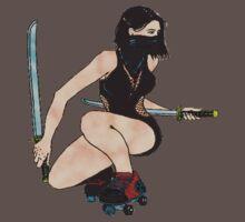 ninja roller derby girl by JAKd