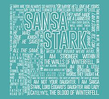 Sansa Stark Quote Poster by ofhouseadama