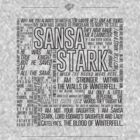 Sansa Stark Quote Shirt (Black) by ofhouseadama
