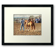 Walk Across the Arena Framed Print