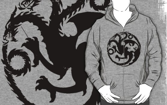 Targaryen Charizard - black by Kirdinn