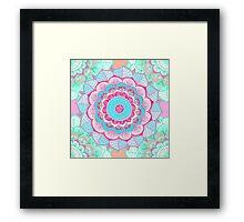 Tropical Doodle Flower Framed Print