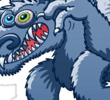 Werewolf Scratching Spooky Fleas Sticker