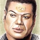 Christopher Judge miniature by wu-wei
