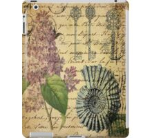 beach seashells hydrangea floral botanical art  iPad Case/Skin