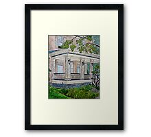 Having a Coffee in the Sun Framed Print