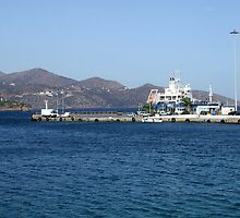 View of Mountains from Water Inlet on Island of Crete in Greece by JaguarJulie