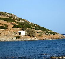 View of a Mountain from Water Inlet on Island of Crete in Greece 2 by JaguarJulie