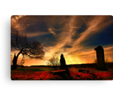""" Trilogy of Fire "" Canvas Print"