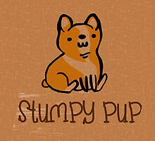 Welsh Corgi Stumpy Pup by geekchicprints