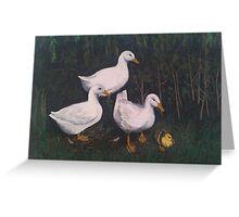 Babysitting Ducks Greeting Card