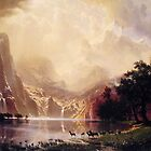 Bierstadt Albert Among the Sierra Nevada Mountains by naturematters
