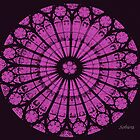 Rose Window Abstract by Rosemary Sobiera