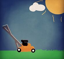 The Orange Lawn Mower Man by kenovmany