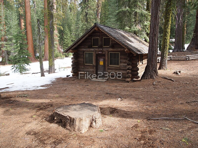 Log cabin yosemite national park by fike2308 redbubble for Cabins inside yosemite national park