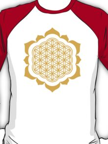 Flower of life - Lotus Flower, sacred geometry, Metatrons cube T-Shirt