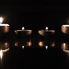 Candles aglow by Melissa Stevenson