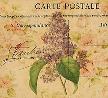 purple lilac vintage floral paris botanical art by lfang77