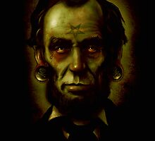 Zombie Abraham Lincoln by ScreamingDemons