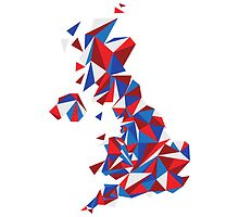 Abstract United Kingdom British Pride by Travla Creative