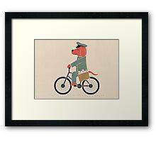 Postdog Framed Print