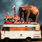 Barnum and Bailey Goes On a Road Trip 5D22705 Vertical by Wingsdomain Art and Photography