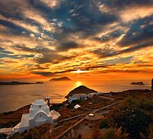 Sunset in Milos island by Hercules Milas
