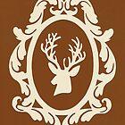 Christmas Card - reindeer - bronze by MrsTreefrog