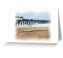 Stormy Day at the Pier Greeting Card