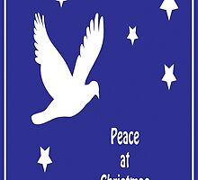 Peace At Christmas Greeting Card by taiche